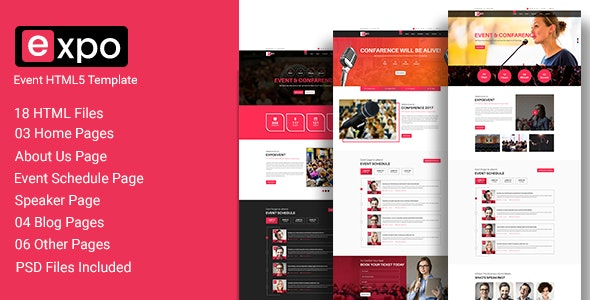 Expo - Event HTML 5 Template - Creative Site Templates