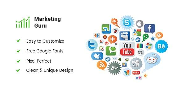 Marketing Guru - Digital Agency PSD Template - Photoshop UI Templates