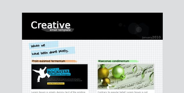 Creative email template