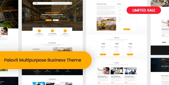 Palovit - Construction, Building Business WordPress Theme - Business Corporate