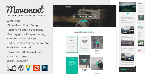 Movement - Personal Blog WordPress Theme - Personal Blog / Magazine