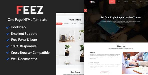 Feez Onepage Creative HTML Template - Creative Site Templates