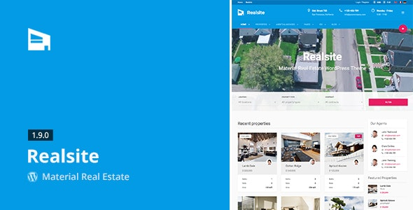 Realsite - Material Real Estate WordPress Theme - Real Estate WordPress