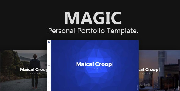 Magic - Creative Personal Portfolio Template. - Portfolio Creative