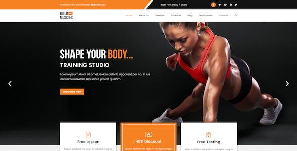 Fitness/Gym PSD Template