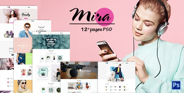 Mira - Accessories Boutique PSD Template - Health & Beauty Retail