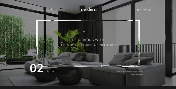 Modern - Ecommerce PSD Template