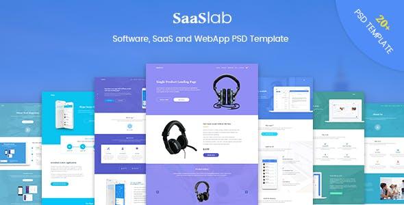 SaaSLab - Software, SaaS and WebApp PSD Template