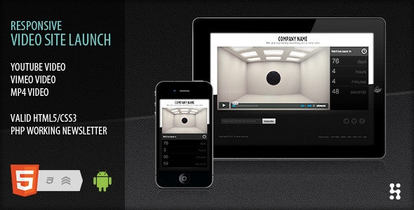 Responsive video site launch coming soon - Under Construction Specialty Pages