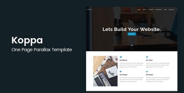Koppa - Creative One Page Parallax Template - Creative Site Templates
