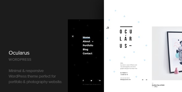 Ocularus - Minimal Photography WordPress Theme - Photography Creative
