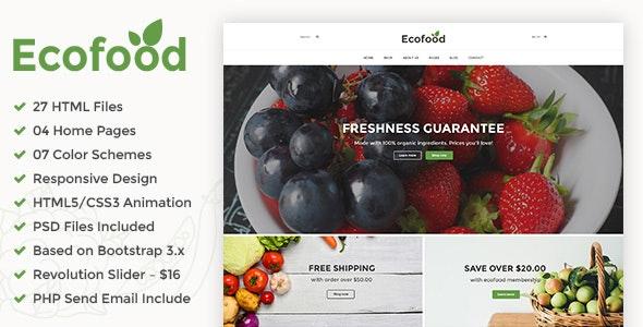Ecofood - Responsive Organic Food, Organic Store & Farm HTML5 Template - Food Retail