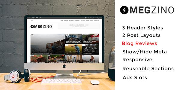 Magzino - Review, Blog and Magazine WordPress Theme