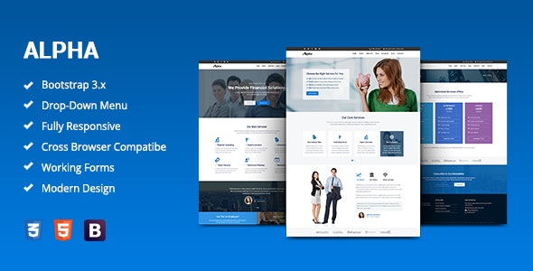 Alpha - Business Consulting and Financial Services HTML Template - Corporate Site Templates