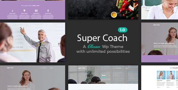 Super Coach - Professional And Tranier Theme - Education WordPress