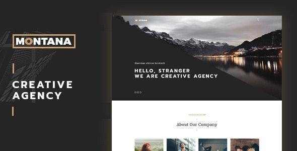 Montana - Modern & Complete One Page Portfolio WordPress Theme - Portfolio Creative