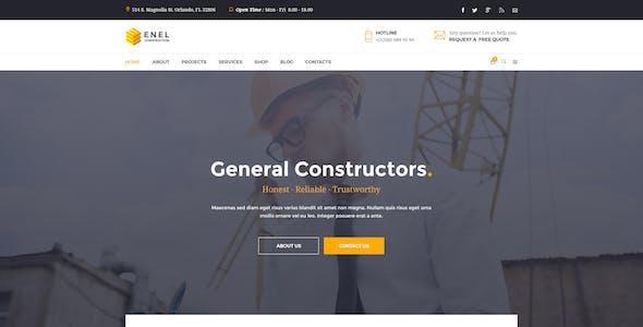 Enel - Construction & Building Business PSD Template
