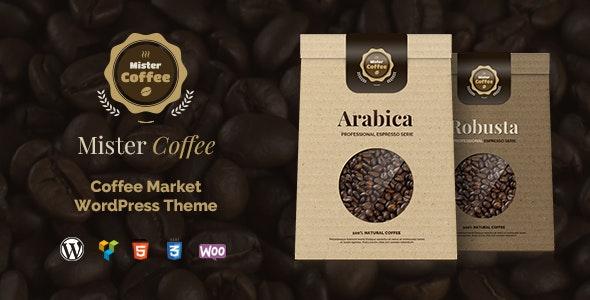 Mister Coffee - Caffeine Market Online Store WordPress Theme - Food Retail