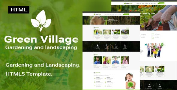 Green Village    Garden and Landscaping Responsive HTML5 Template