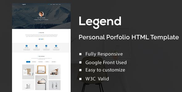 Personal Portfolio Template Word Html Website Templates
