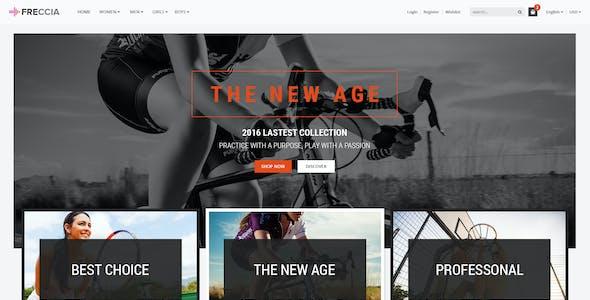 Freccia - Sportswear Store PSD Templates