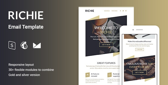 Richie Multipurpose Email Template - Email Templates Marketing