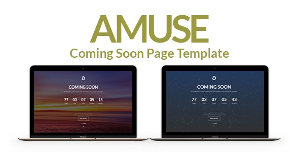 Amuse – A Multipurpose Coming Soon Page Template - Under Construction Specialty Pages
