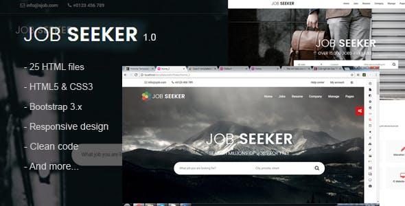 jobseeker - Job Portal HTML Template