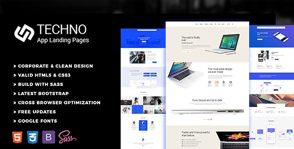 Techno - One Page Template - Landing Pages Marketing