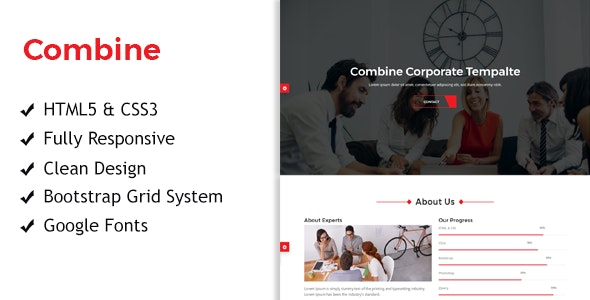 Combine - One Page Corporate Responsive HTML Template - Corporate Site Templates