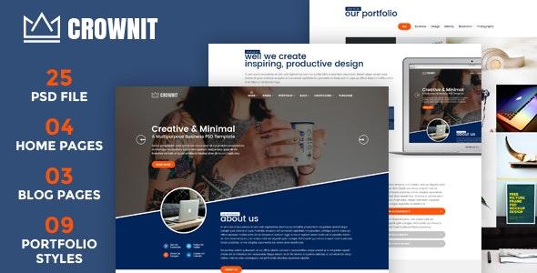 CrownIT - Multipurpose PSD Template - Business Corporate