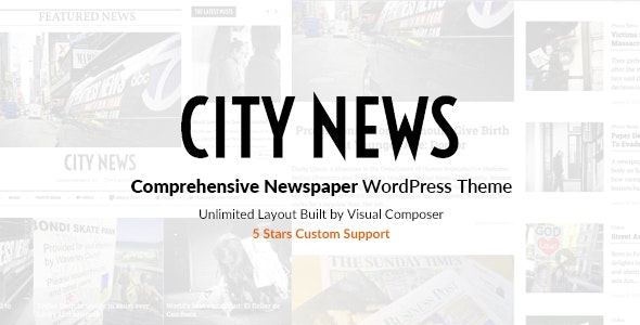 CityNews - Comprehensive Newspaper WordPress Theme - News / Editorial Blog / Magazine