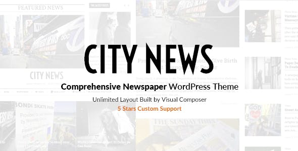 CityNews - Comprehensive Newspaper WordPress Theme
