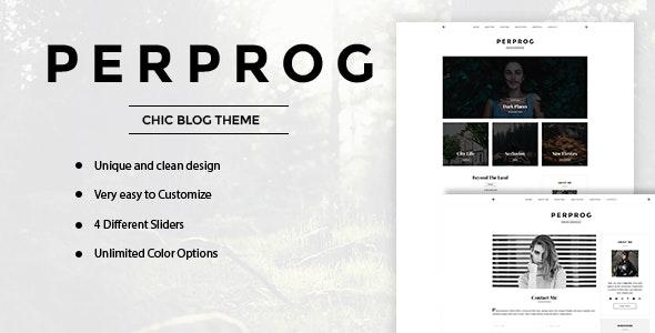 PerProg - Minimalist WordPress Blog Theme - Personal Blog / Magazine