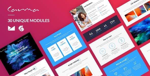 Carma Email-Template + Online Builder - Newsletters Email Templates