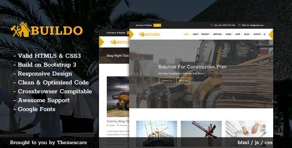 Buildo - Construction & Building HTML5 Template - Business Corporate