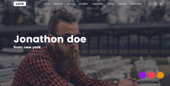 Lank – Creative Design Agency & Personal Portfolio HTML Template