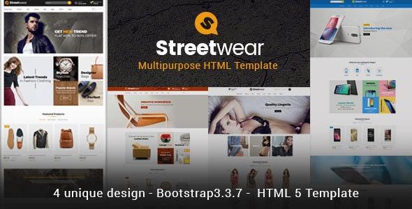 Streetwear - Responsive Multipurpose E-Commerce HTML5 Template - Retail Site Templates