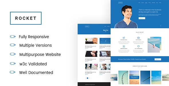 ROCKET -  Multipurpose Corporate and Business landing page - Corporate Site Templates