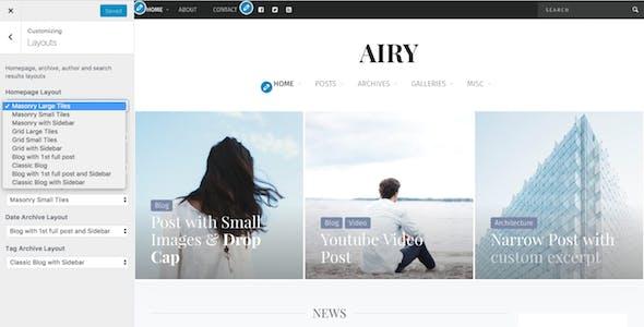 Airy - Flexible Blog & Magazine WordPress Theme
