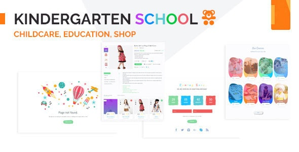 Kindergarten - School & Education Institute HTML Template - Nonprofit Site Templates