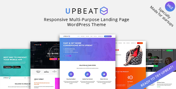 Upbeat - Multi-Purpose Landing Page WordPress Theme - Marketing Corporate