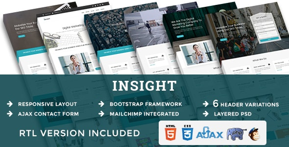 INSIGHT - Multipurpose Responsive HTML Landing Pages - Marketing Corporate