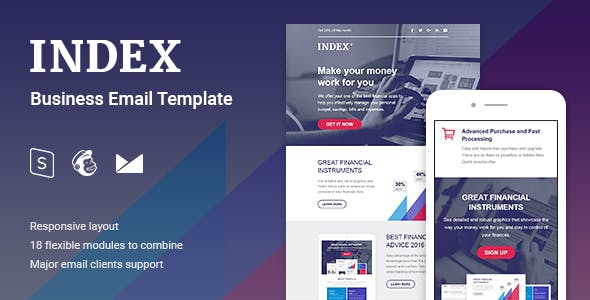 Index Business Email Template By Coverry Themeforest