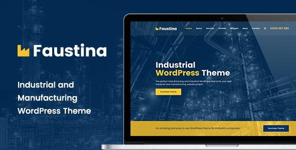 Faustina - Industrial WordPress Theme - Business Corporate
