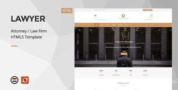 Lawyer & Associates - Attorney / Law Firm HTML5 Template - Business Corporate