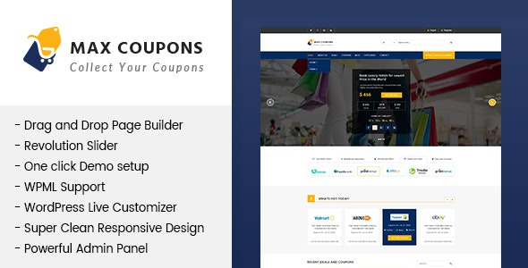 Max Coupons - Couponry & Deals WordPress Theme - Shopping Retail