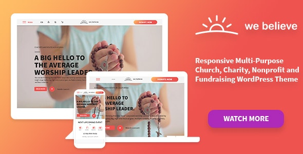 WeBelieve | Church, Charity and Fundraising Responsive Multi-Purpose WP Theme - Churches Nonprofit