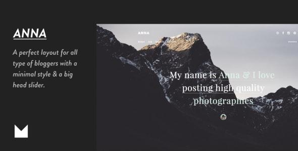 Anna - Responsive Grid Theme - Portfolio Tumblr