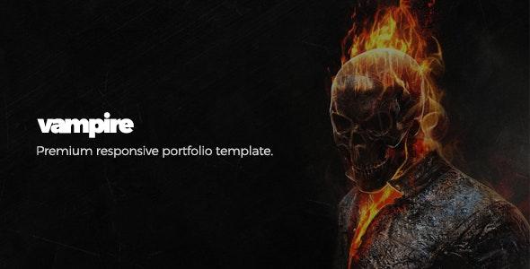 Vampire - Responsive Portfolio Template - Portfolio Creative